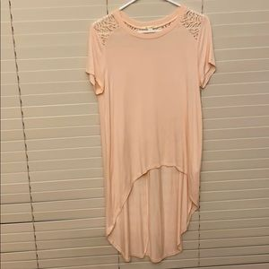 Light Pink Miami brand asymmetrical top.
